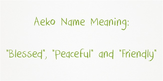 Aeko meaning